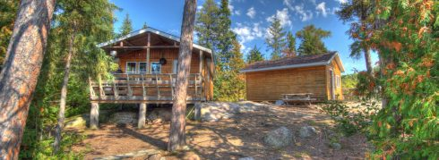 Gamble Lake cabin exterior