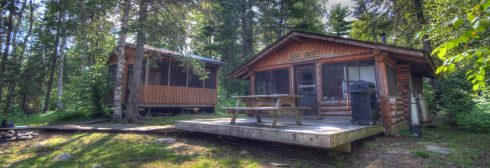McQuat Lake cabin and sauna