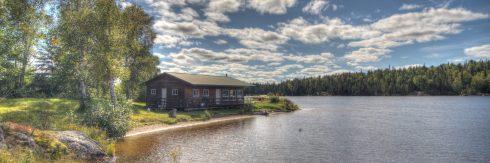 Sawbill Bay cabin exterior