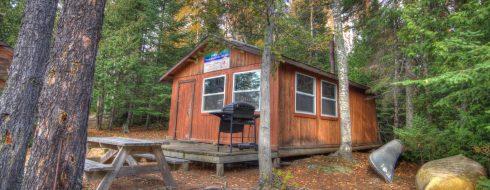 NaMaygoos Lake cabin exterior